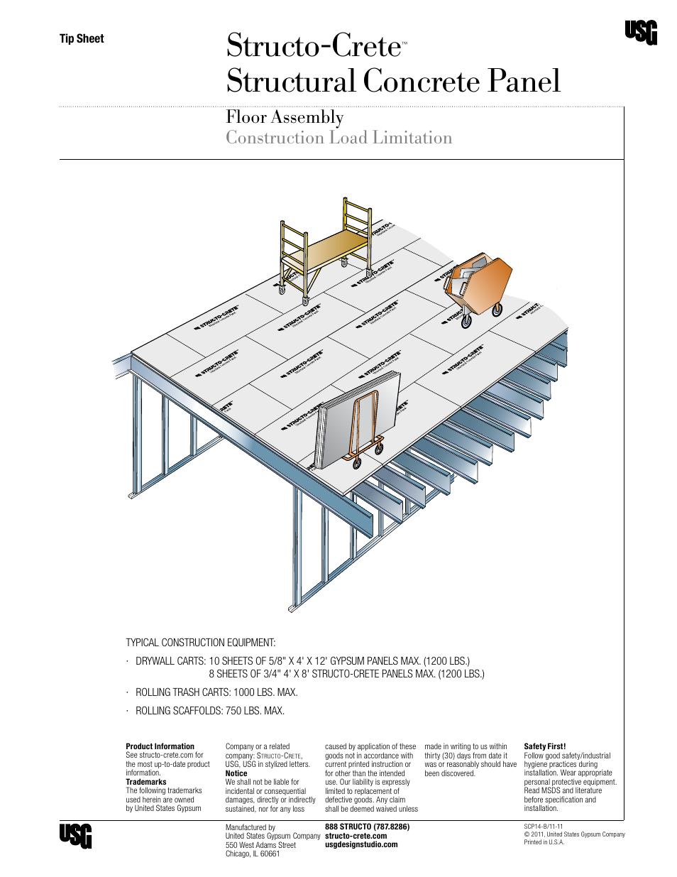 Structo Crete Structural Concrete Panel Floor Assembly