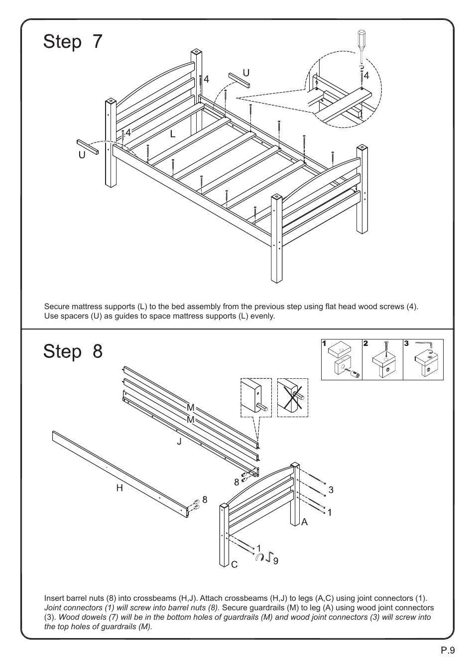 Walker Edison Furniture Bwstot Wood Twin Twin Bunk Bed User Manual