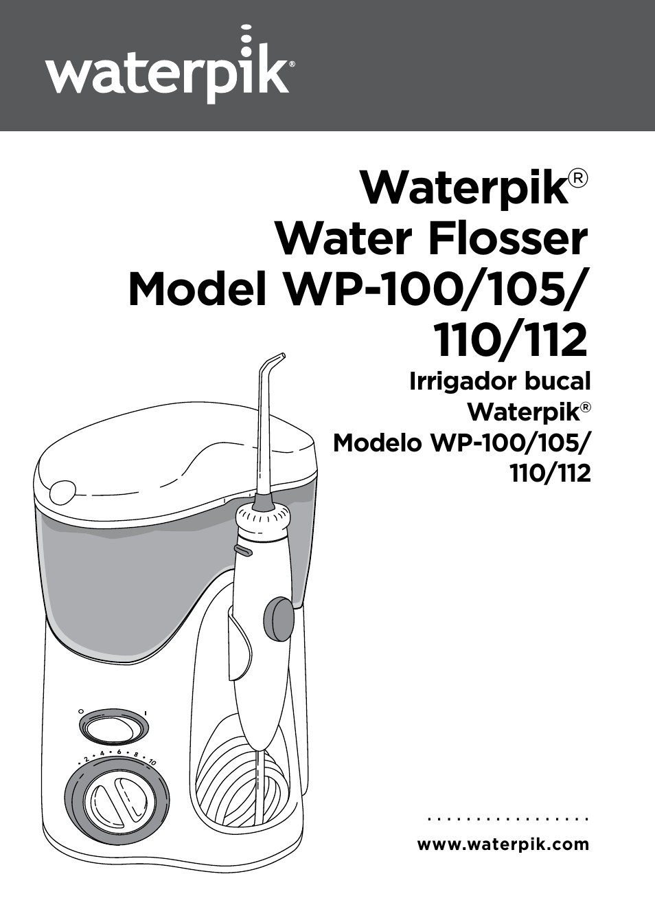 waterpik wp 100 owners manual user manual 19 pages. Black Bedroom Furniture Sets. Home Design Ideas