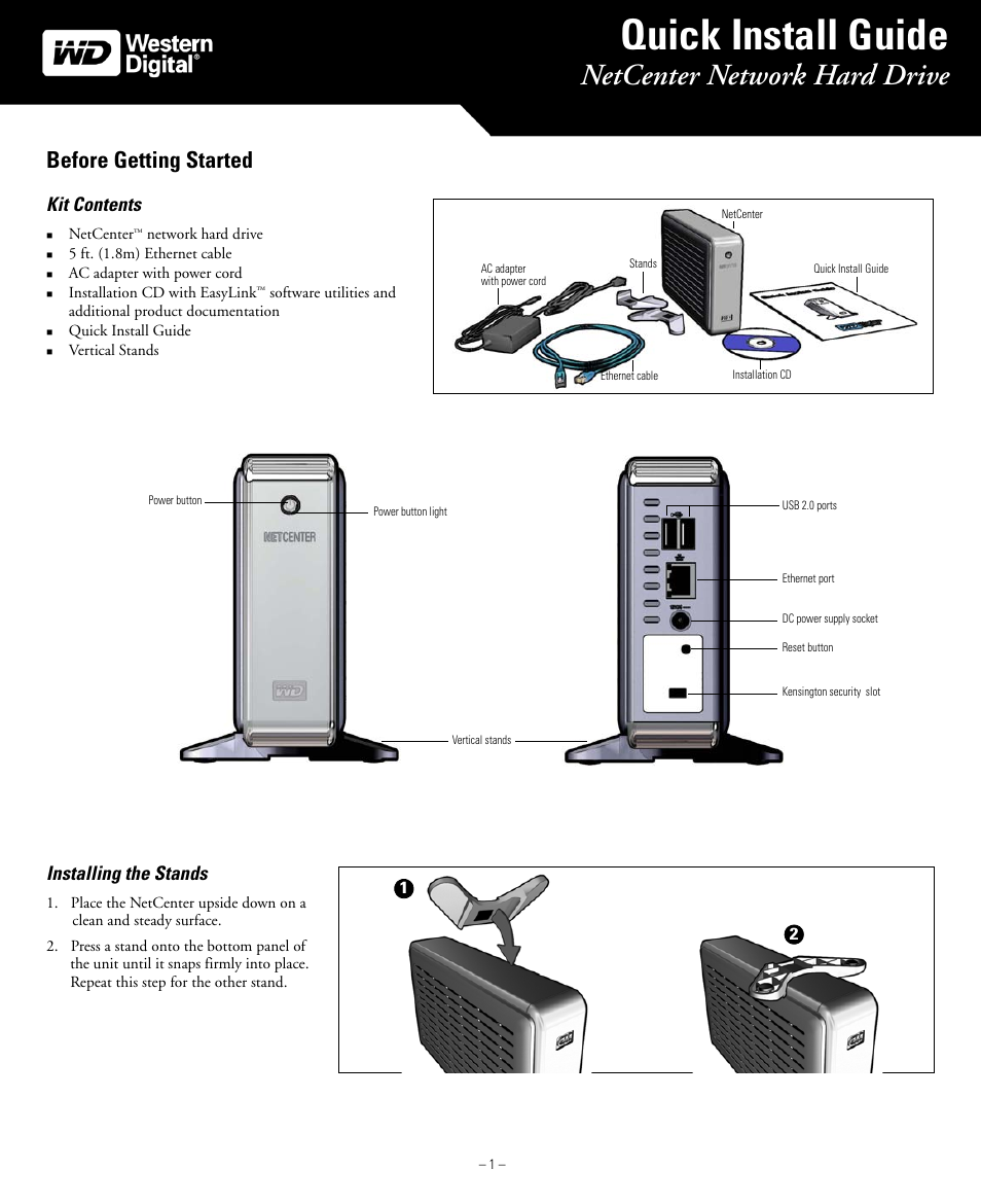 western digital wd netcenter quick install guide user manual 4 pages rh manualsdir com Western Digital Western Digital