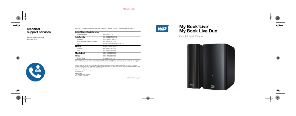 Western Digital My Book Live Duo Quick Install Guide User