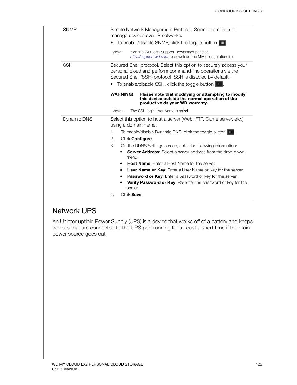 Network ups | Western Digital My Cloud EX2 User Manual User