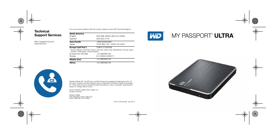 My passport, Ultra, Technical support services | Western Digital My