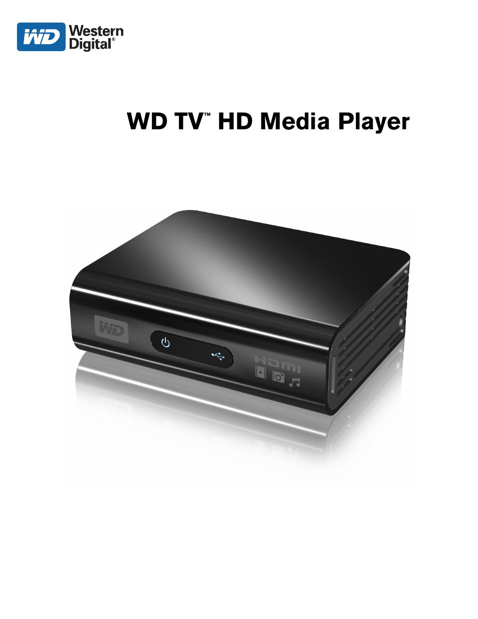 western digital wd tv hd media player gen 1 user manual user rh manualsdir com Western Digital Wireless Media Player Western Digital Media Player Problems
