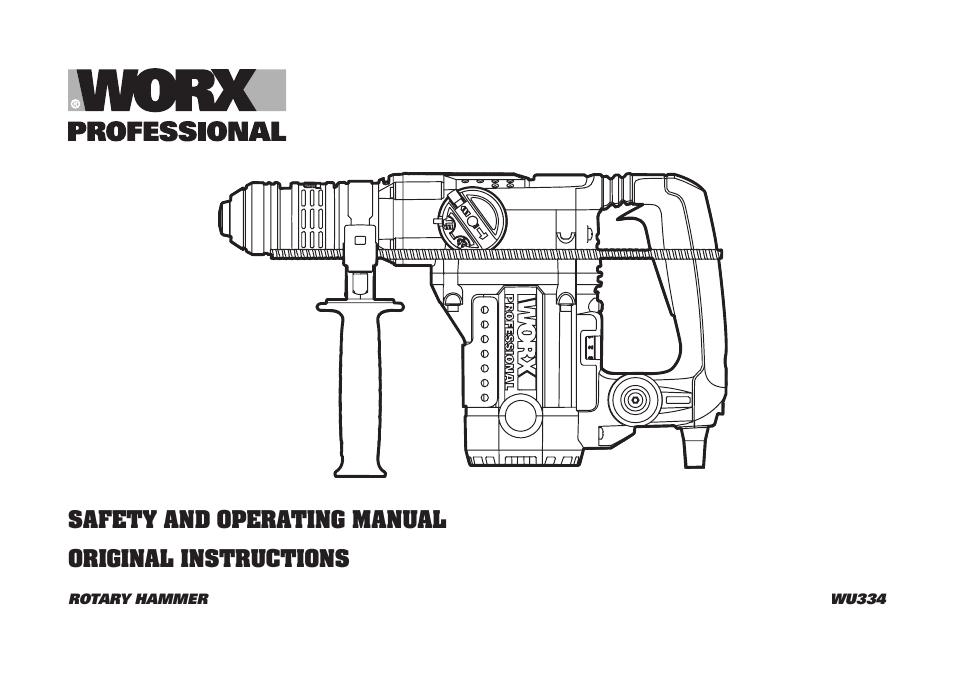 Worx WG784E Original Instructions Manual