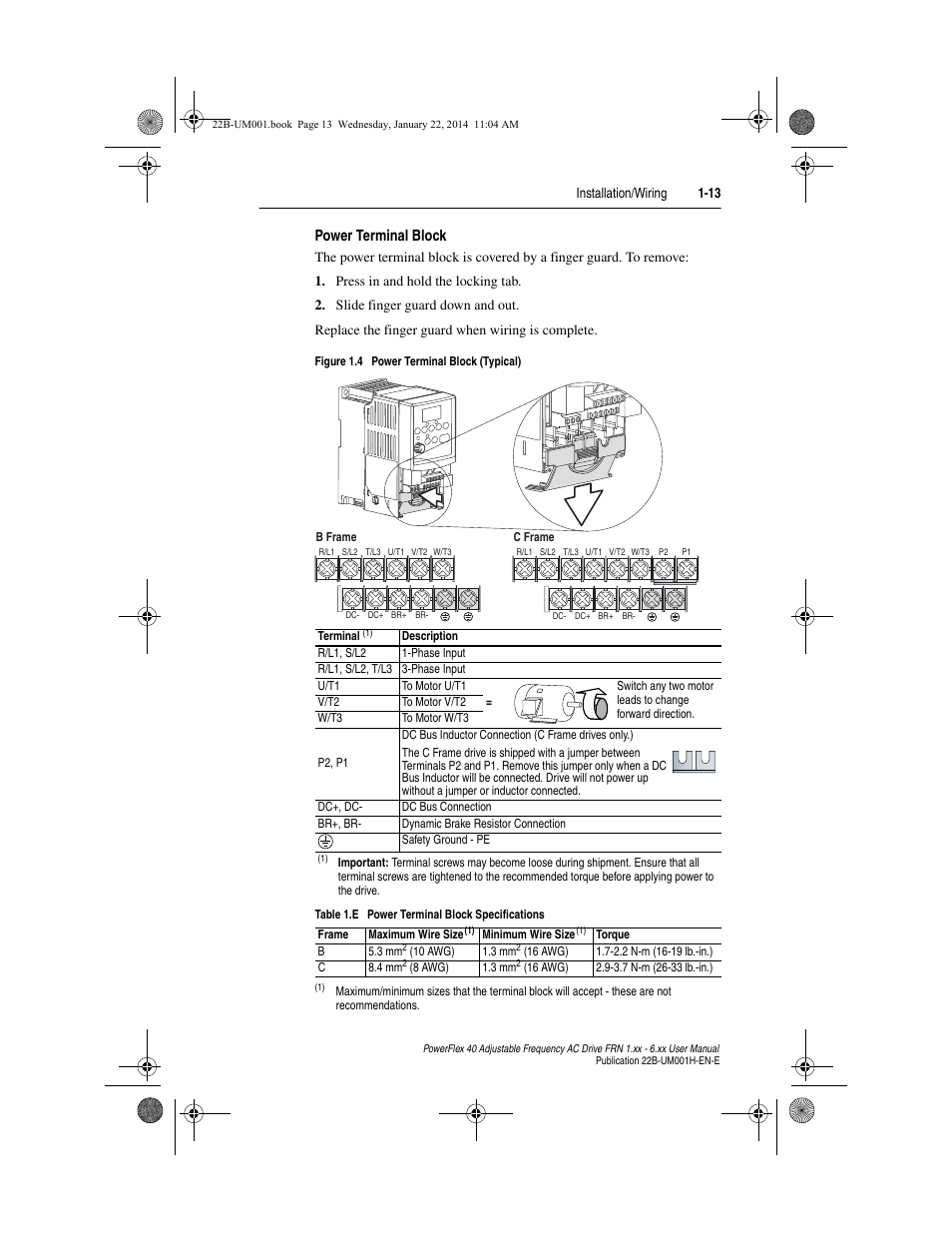 Wiring Diagram Powerflex 40p Electrical Diagrams 40 Ethernet Page 2 And Schematics Basic Power Terminal Block