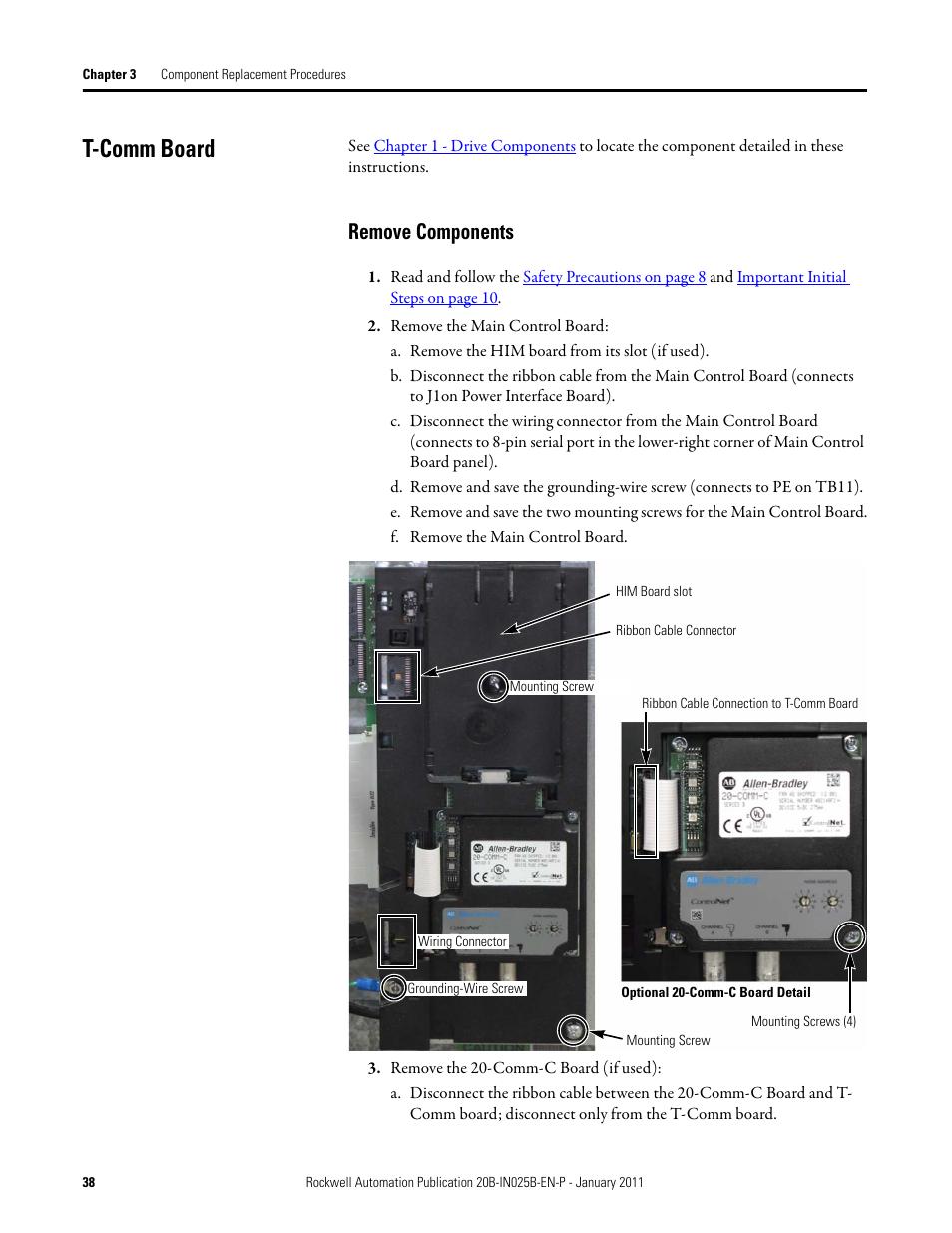 t comm board remove components rockwell automation pf700 rh manualsdir com powerflex 700 vc user manual powerflex 700 programming manual