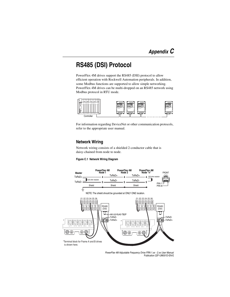 appendix c  rs485  dsi  protocol  network wiring