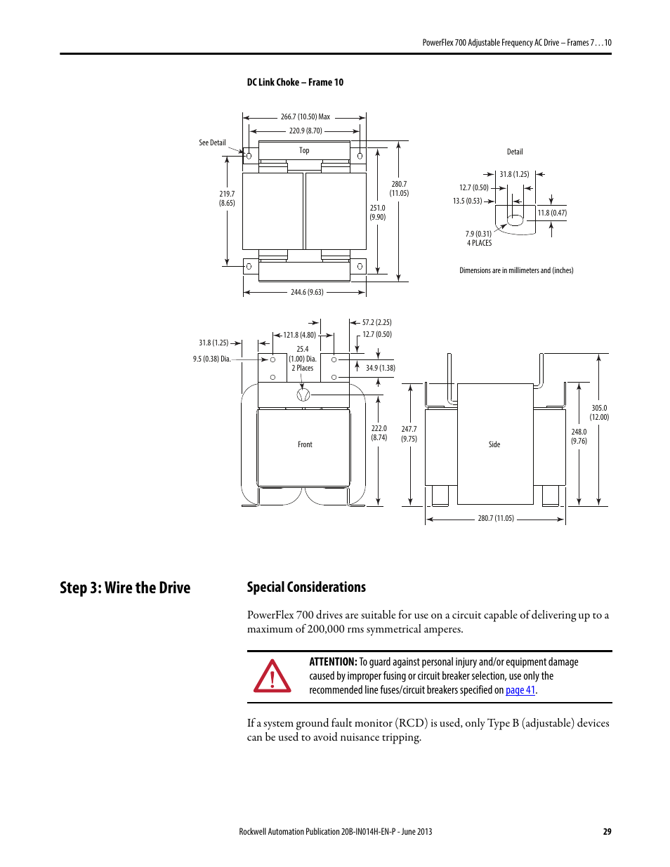 Powerflex 700 Frame 6 Wiring Diagram Reveolution Of 755 Diagrams Step 3 Wire The Drive Special Considerations Rockwell Automation Rh Manualsdir Com User Manual Analog Input