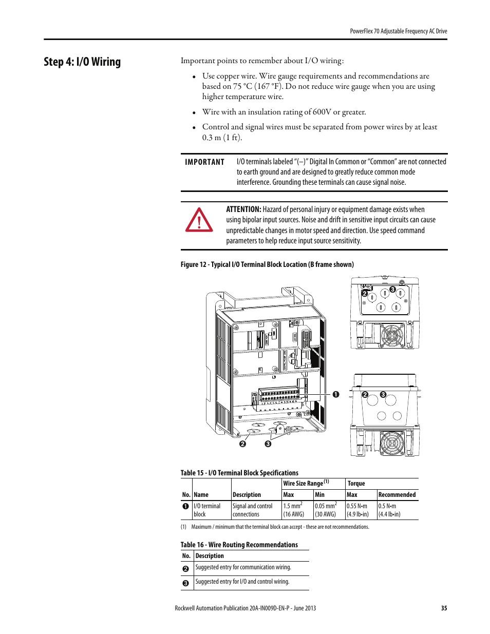 Powerflex 700 Wiring Diagram Speed Control Library 753 Step 4 I O Rockwell Automation 20a 70 Adjustable Rh Manualsdir Com Allen Bradley