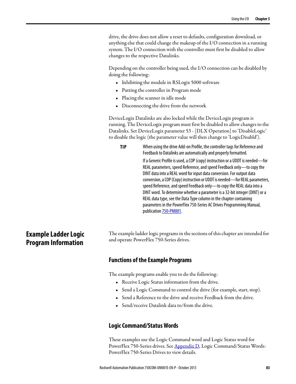 example ladder logic program information functions of the example rh manualsdir com Motorola DS9208 Scanner Programming Motorola Programming Software
