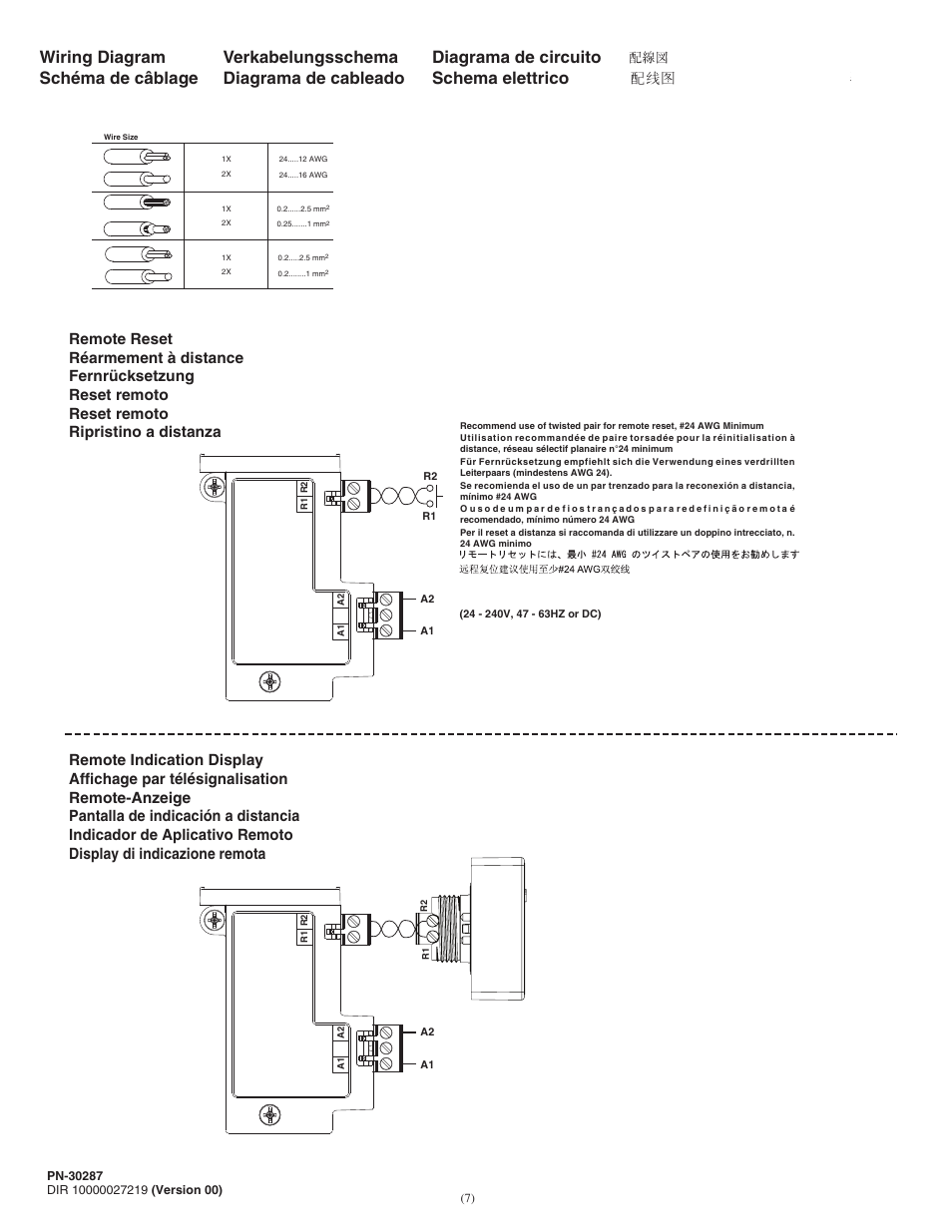 Wiring Diagram Rockwell Automation 193 Err E1 Plus Remote Reset Accessory Module User Manual