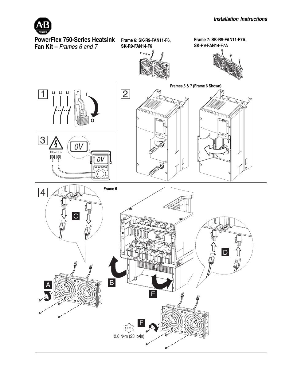Rockwell Automation 755 PowerFlex 750-Series Heatsink Fan