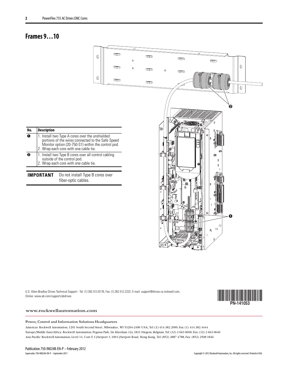 Powerflex 755 Wiring Diagram Frame 8 Trusted Diagrams 753 Control Frames 9 10 Rockwell Automation 21g Emc Core Kit Fault Codes