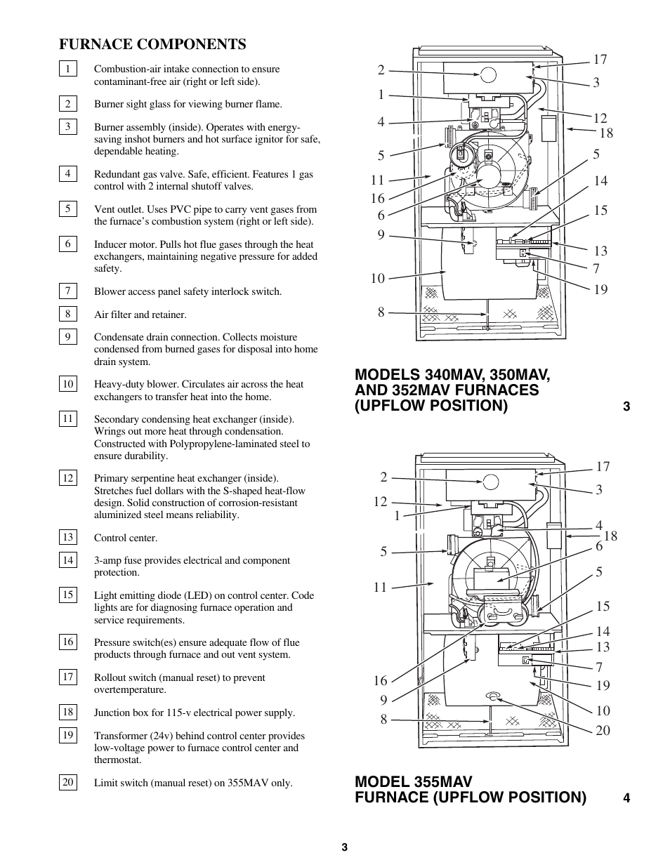 Bryant CONDENSING GAS FURNACE 352MAV User Manual | Page 3 / 12 | Also for:  CONDENSING GAS FURNACE 355MAV, CONDENSING GAS FURNACE 350MAV, CONDENSING  GAS ...