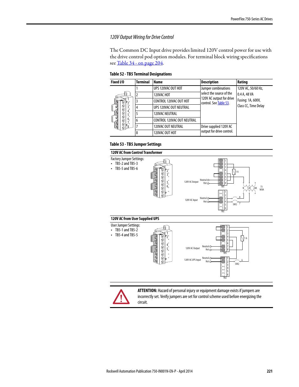 WRG-2228] Ac Drive Wiring on