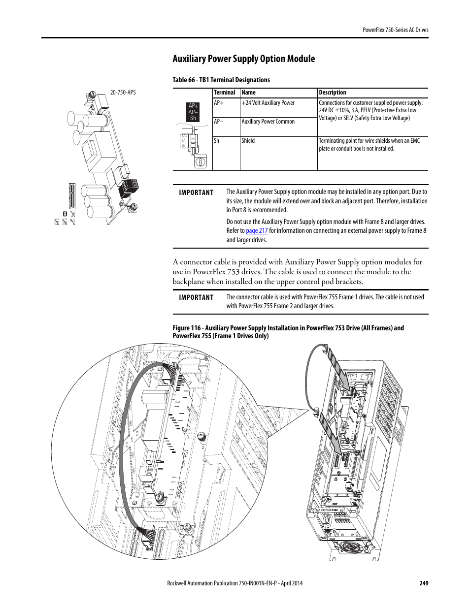 Powerflex 753 Drive Wiring Ac Auxiliary Power Supply Option Module Rockwell Automation Series Drives User Manual Page 954x1235