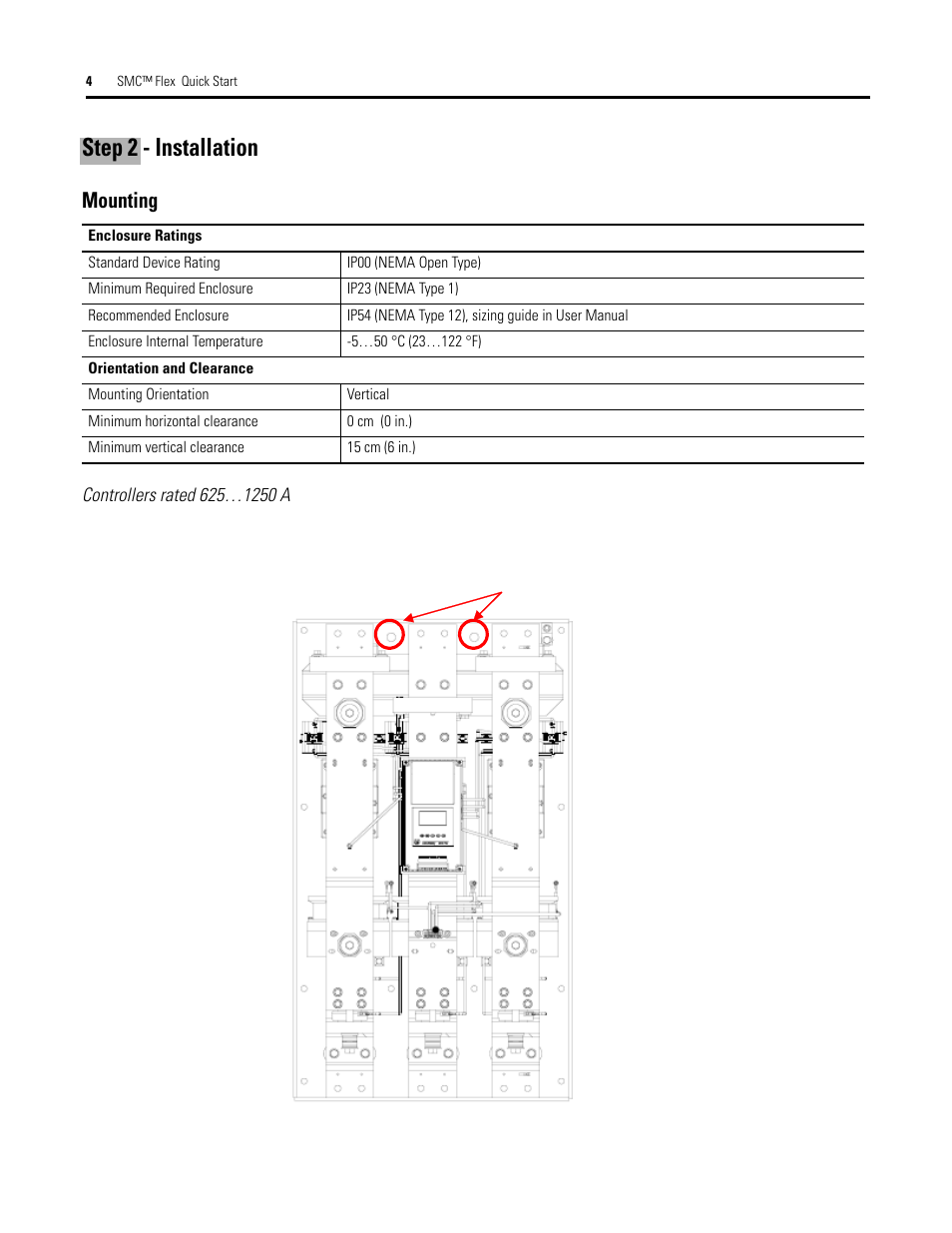 Smc Flex 150 Wiring Diagram Schematics Franklin Electric Step 2 Installation Mounting Rockwell Automation