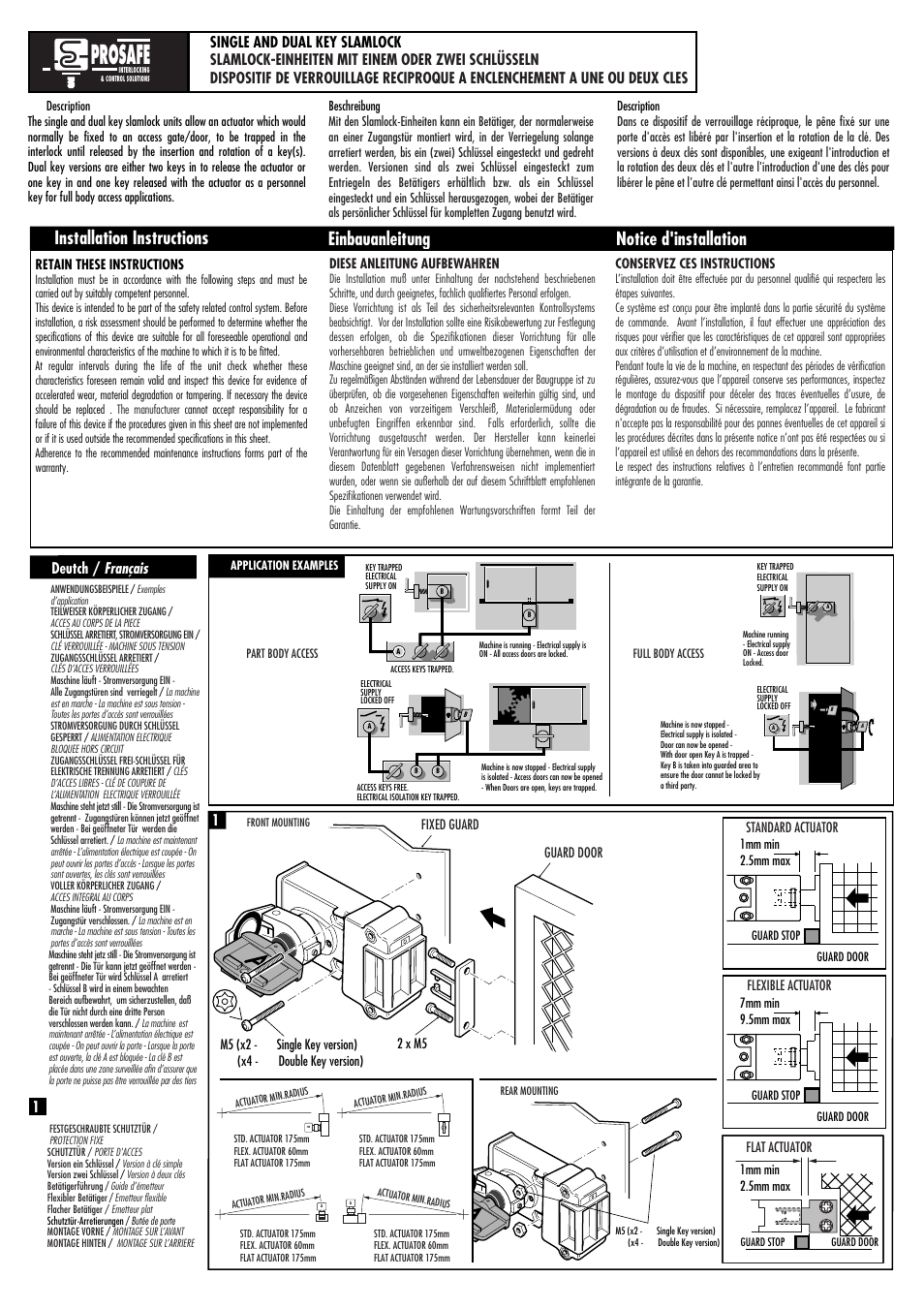 Rockwell Automation 440T Slamlock Trapped Key Interlock Switch User Manual  | 4 pages