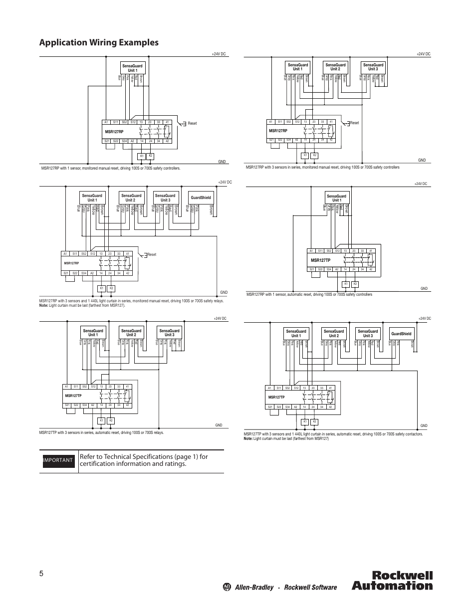 Safety Relay Wiring Diagram Msr127tp Pilz Application Examples Rockwell Automation 440n Sensaguard 18