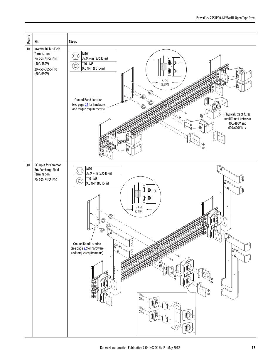 Rockwell Automation 20G PowerFlex 755 IP00 NEMA/UL Open