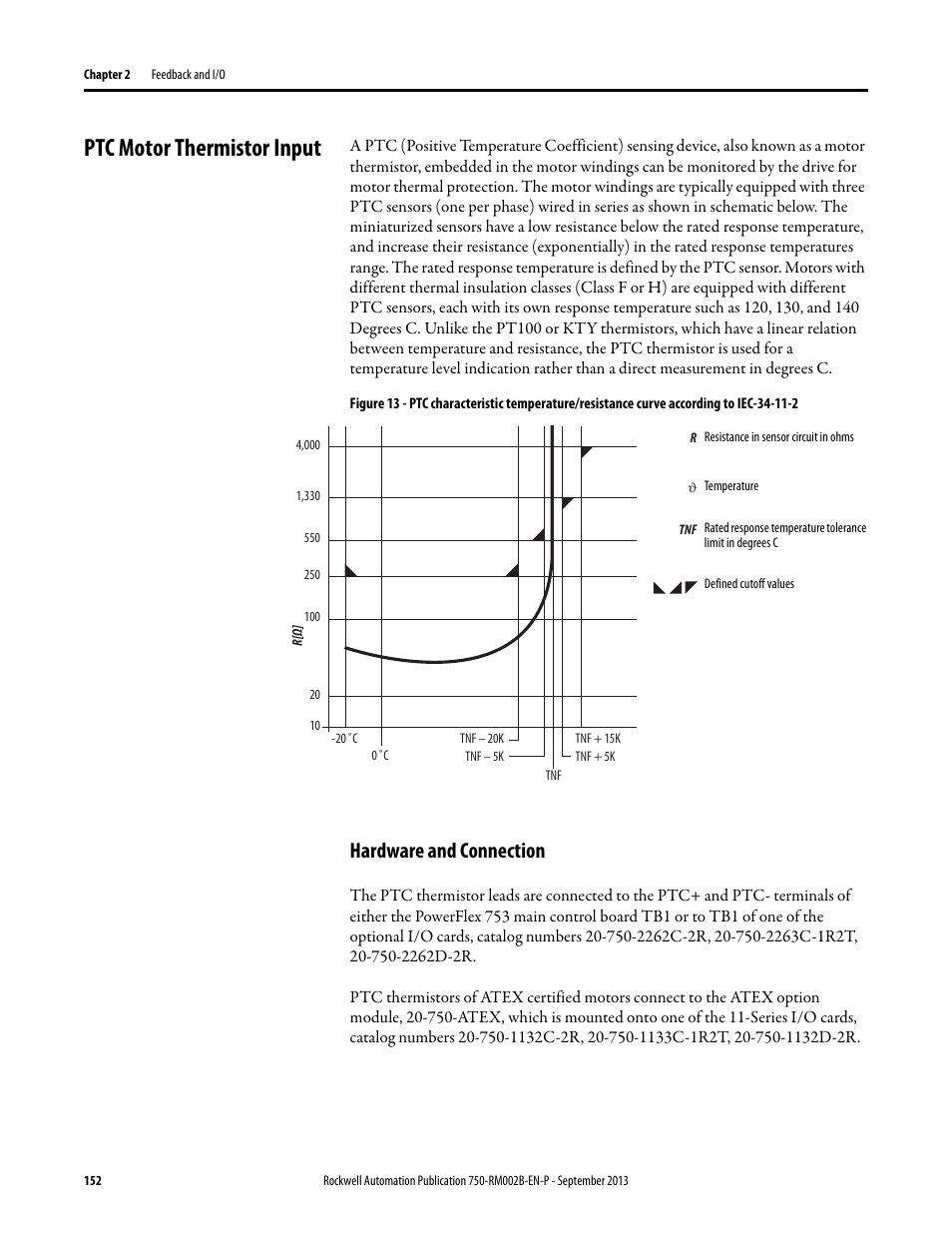 ptc motor thermistor input hardware and connection rockwell ptc motor thermistor input hardware and connection rockwell automation 20g powerflex 750 series ac drives user manual page 152 432