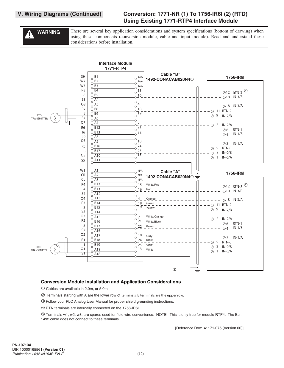 I O Wiring Diagrams : V wiring diagrams continued rockwell automation