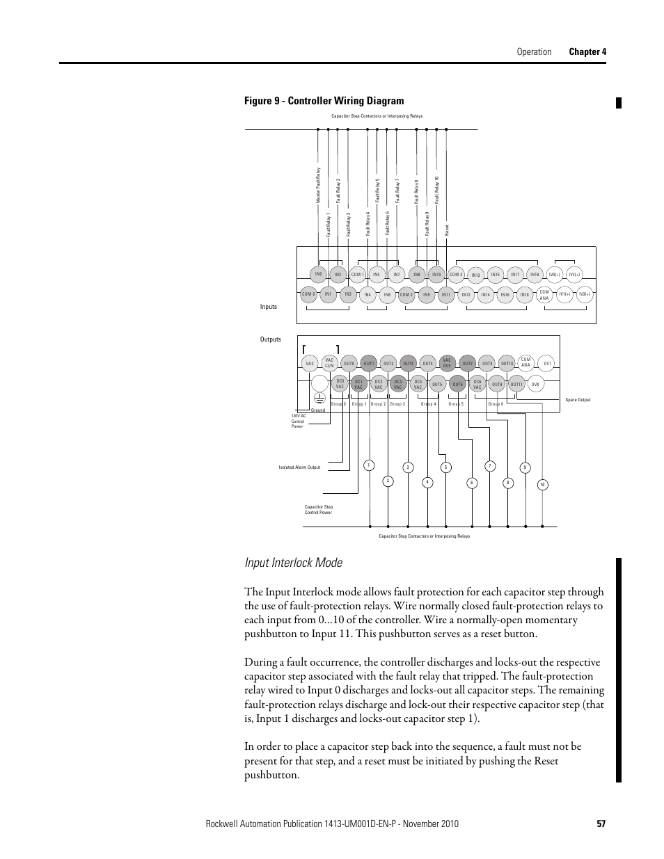 Input interlock mode, Figure 9 - controller wiring diagram | Rockwell  Automation 1413-CAP
