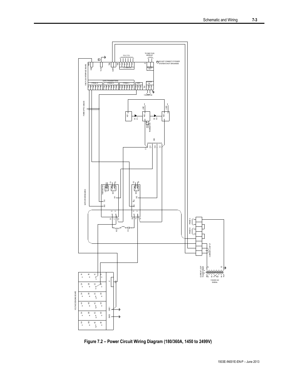 schematic and wiring 7-3 | rockwell automation mv smc flex oem components  user manual
