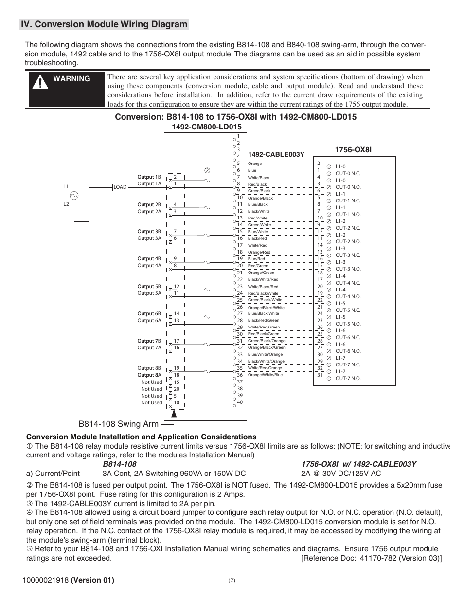 Iv. conversion module wiring diagram | Rockwell Automation 1492 ...