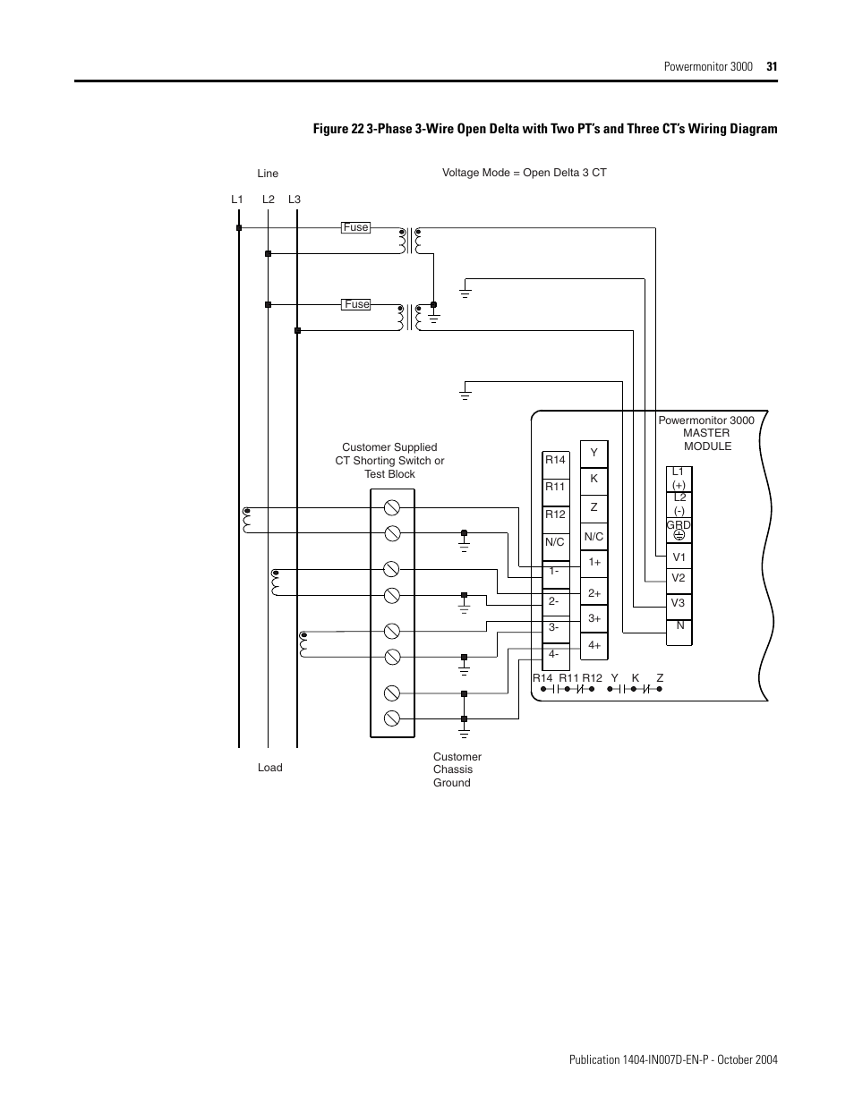 Rockwell Automation 1404 M4 M5 M6 M8 Powermonitor 3000 Installation Yamaha L2 Wiring Diagram Instructions Prior To Firmware Rev 30 User Manual Page 31 66