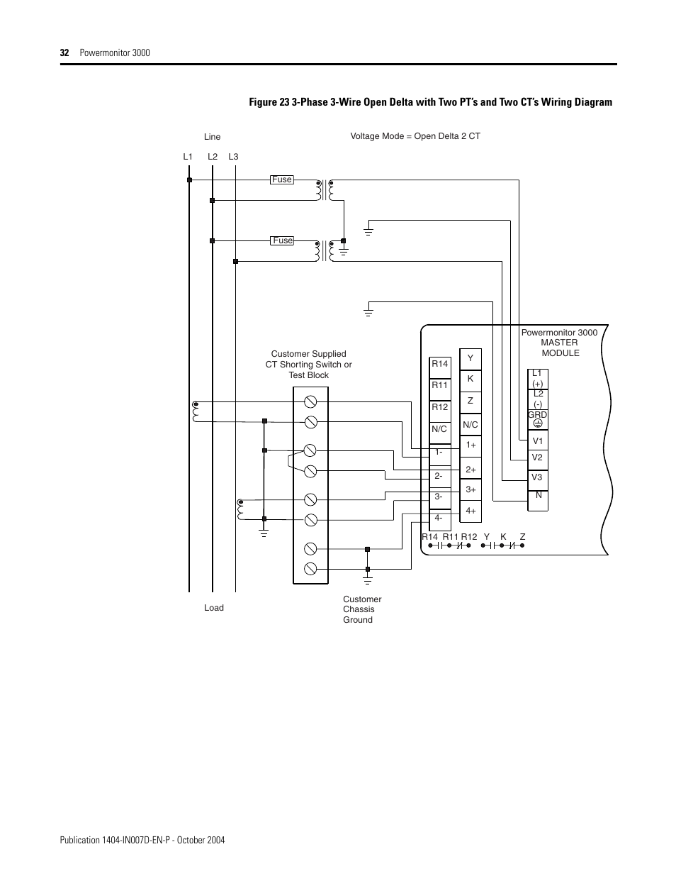 Rockwell Automation 1404 M4 M5 M6 M8 Powermonitor 3000 Installation Ct Can Wiring Diagram Instructions Prior To Firmware Rev 30 User Manual Page 32 66