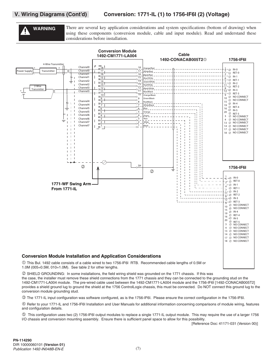 V Wiring Diagrams Contd Rockwell Automation 1492 Cm1771 La004 Analog Diagram
