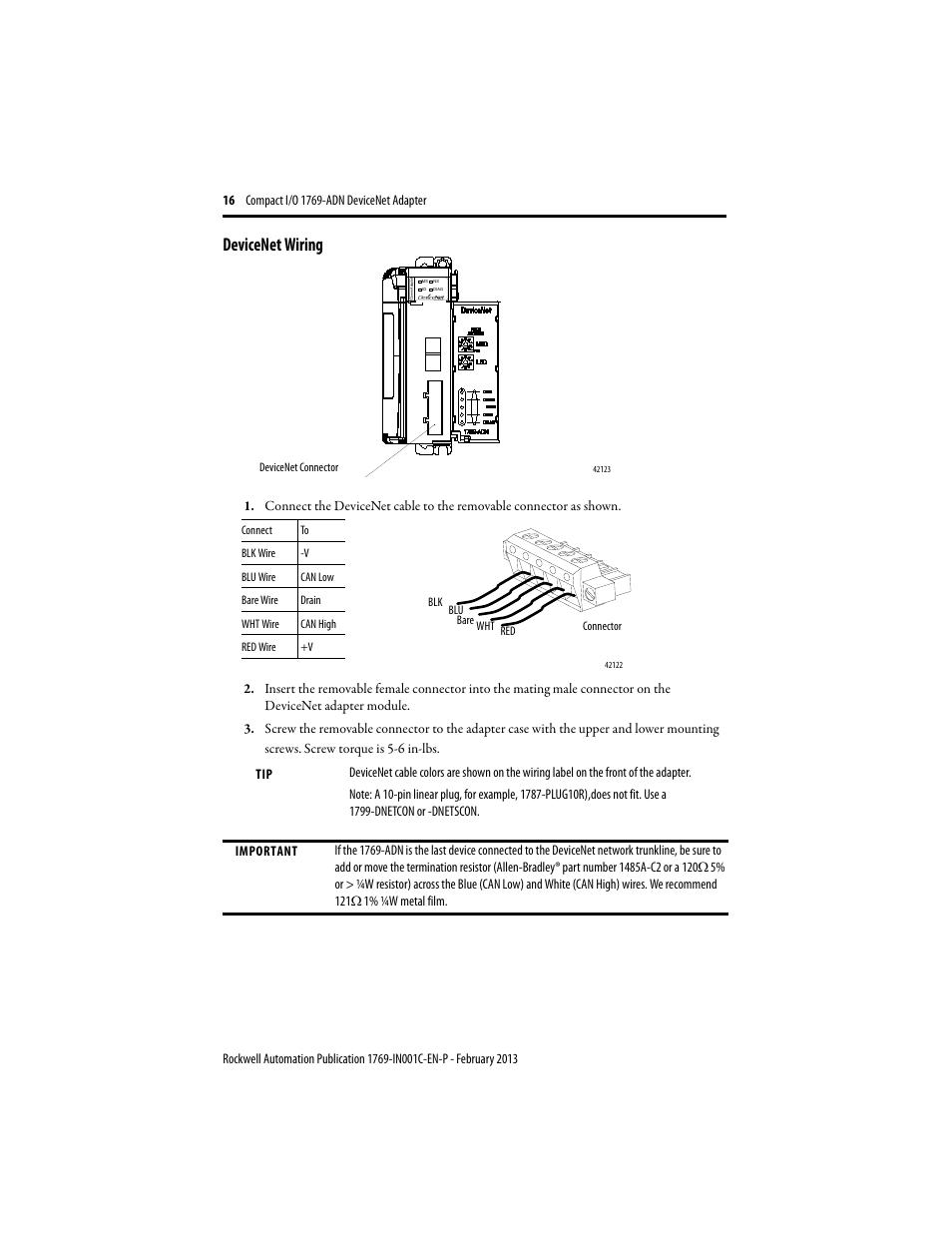 Devicenet Wiring Diagram Online Schematics Servo Rockwell Automation 1769 Adn Compact I O Dc