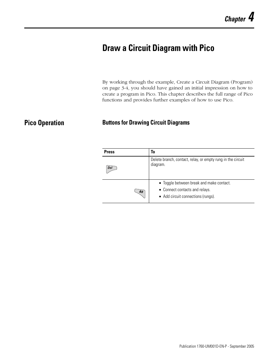 4 Draw A Circuit Diagram With Pico Operation Chapter