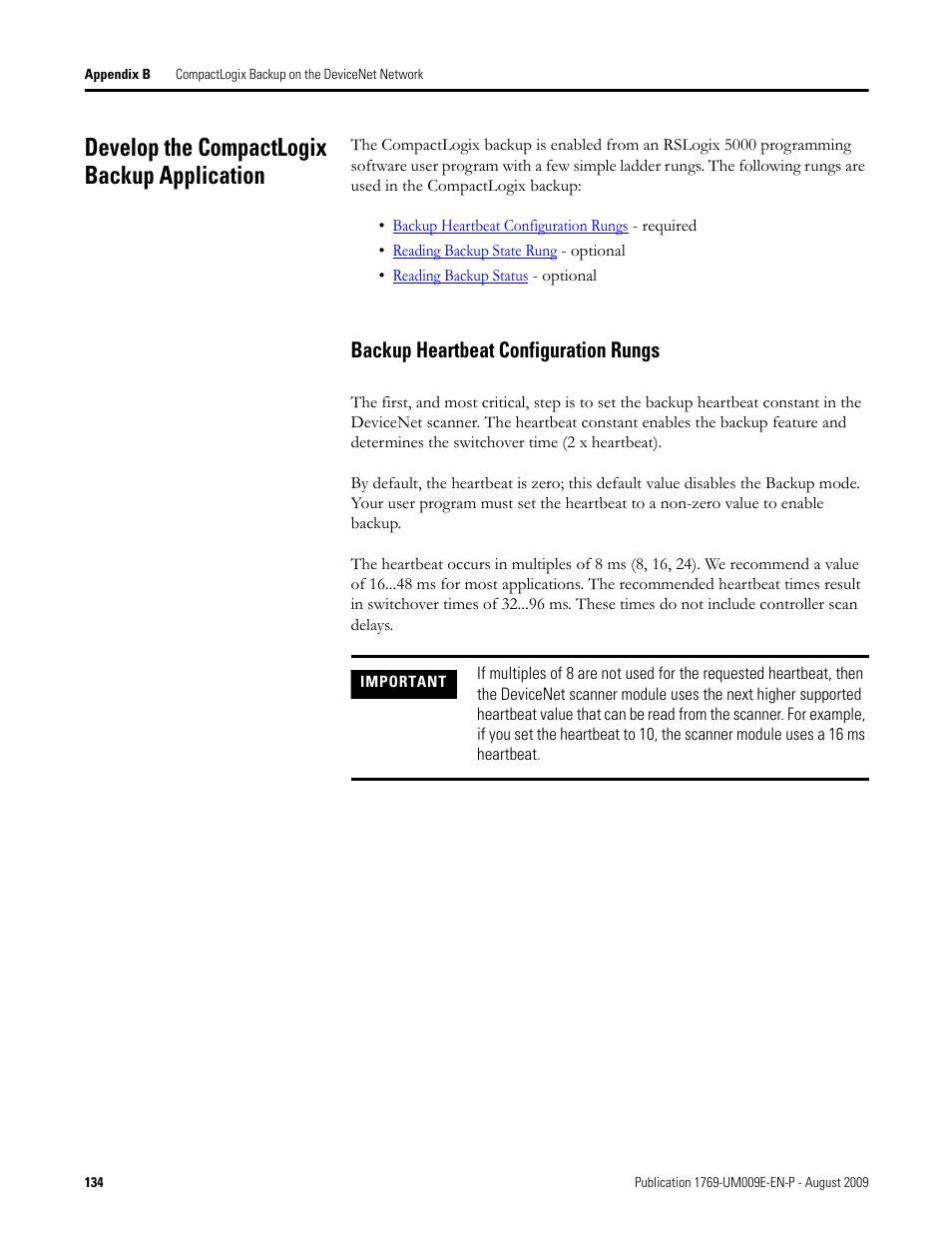 Develop the compactlogix backup application, Backup