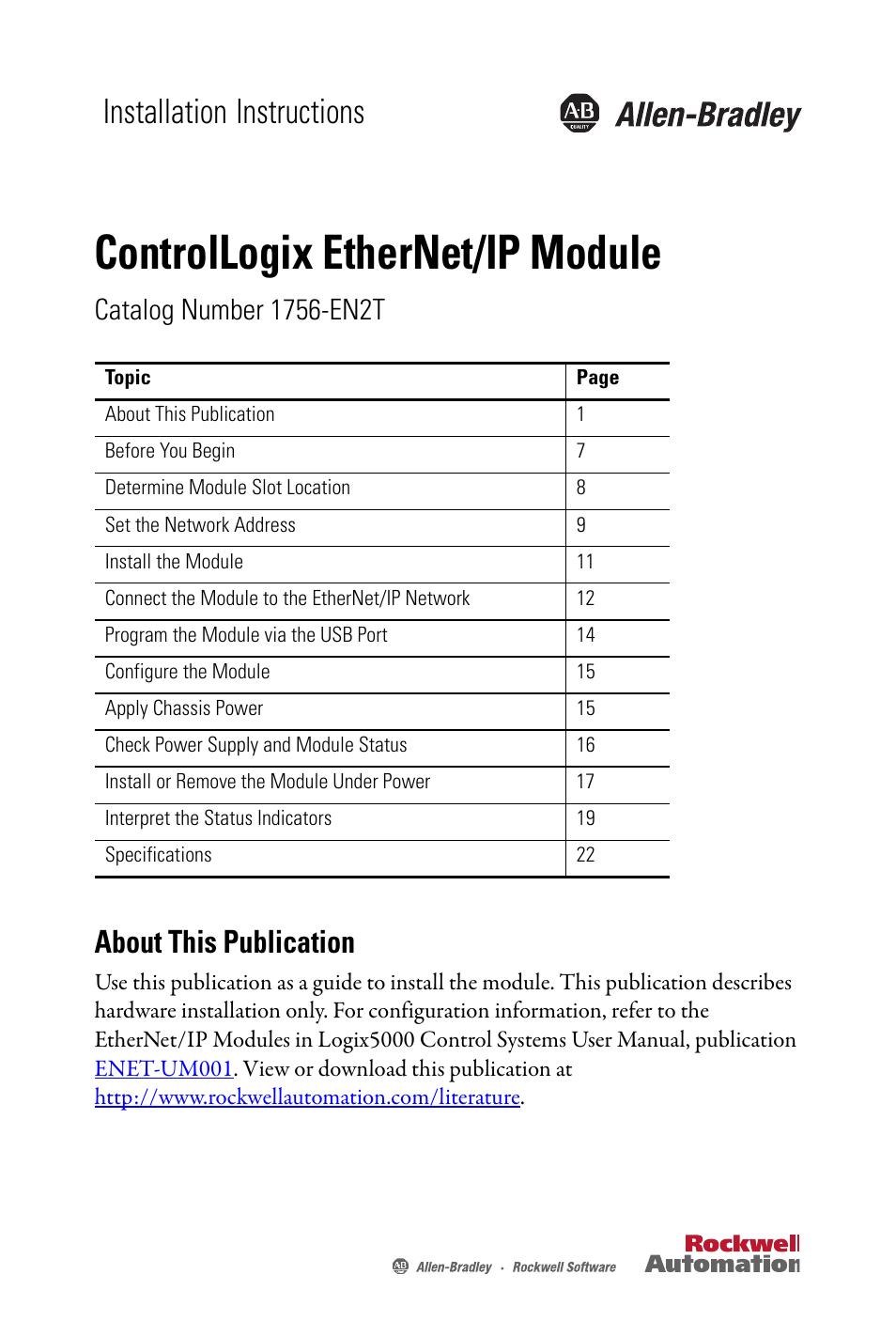 Allen dley Ethernet Ip Manual on