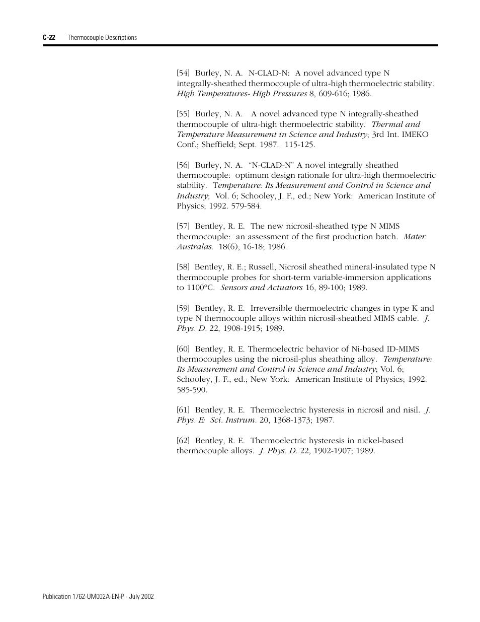 Rockwell Automation 1762-IT4 Thermocouple/mV Input Module User
