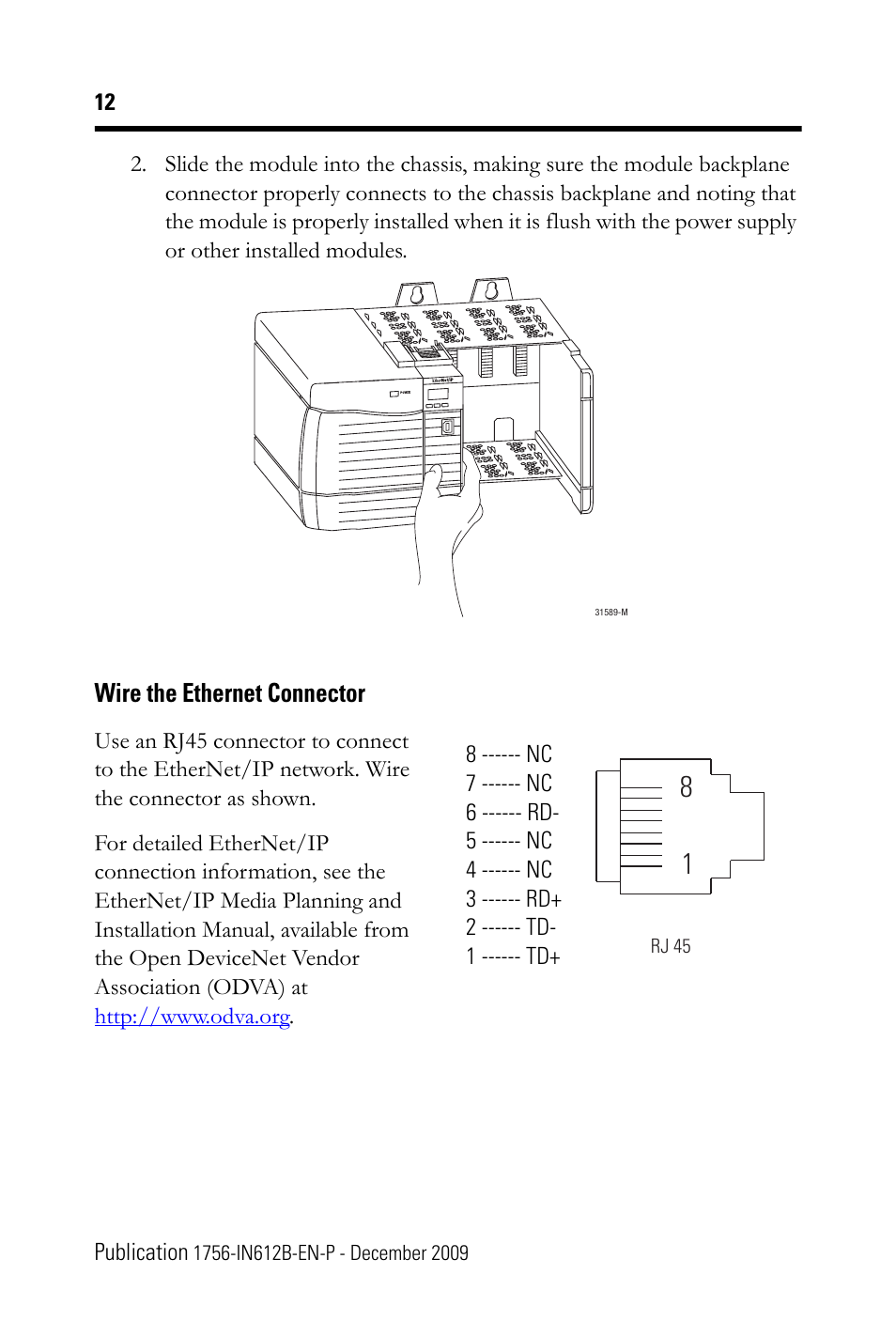 Rj45 Plug Wiring For Communication Connection Electrical Ethernet Wire The Connector Rockwell Automation 1756 En3tr Rj45b