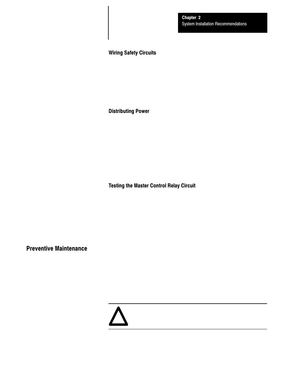 Master Control Relay Wiring Harness Schematics Zone Diagram Safety Circuits Distributing Power Testing The Rh Manualsdir Com Honeywell Burner Taco