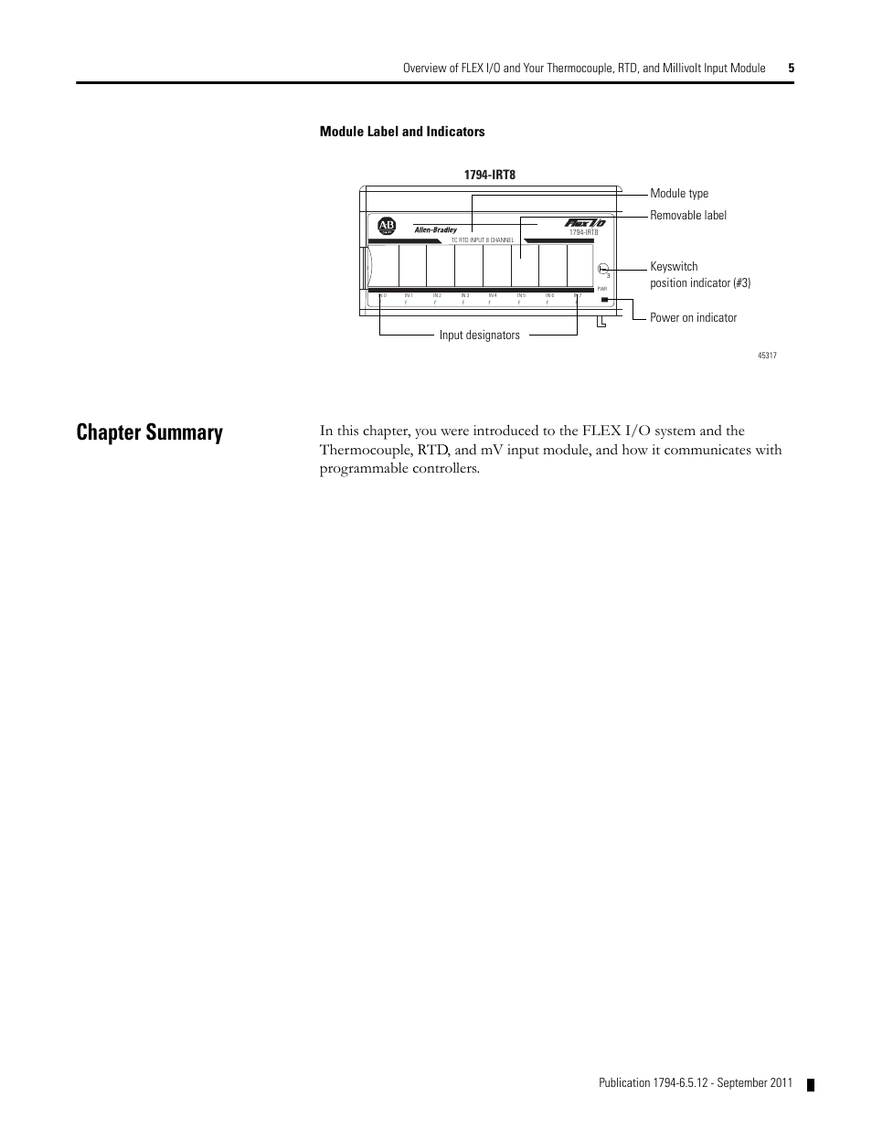 1794 Irt8 User Manual Guide That Easy To Read Ie8 Wiring Chapter Summary Module Label And Indicators Rockwell Automation Rh Manualsdir Com Instruction