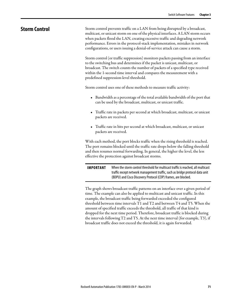 Storm control | Rockwell Automation 1783-Mxxx Stratix 8000