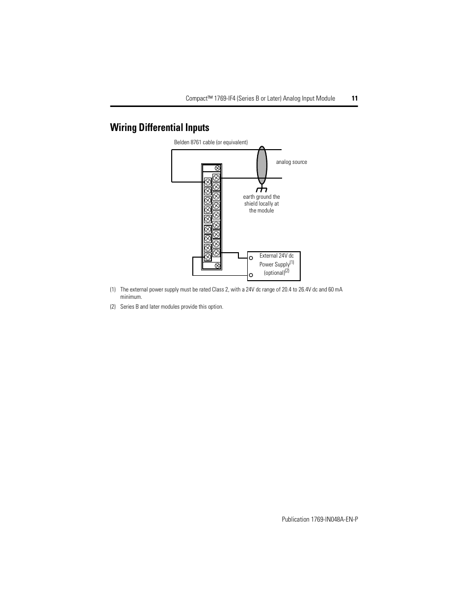 Wiring Differential Inputs