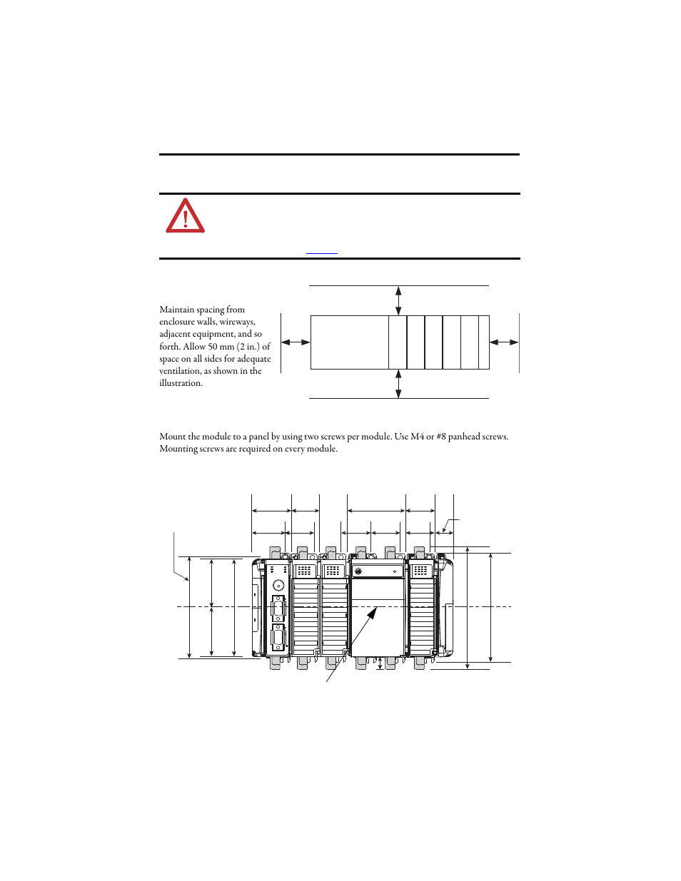 system mounting minimum spacing panel mounting rockwell rh manualsdir com Operators Manual Operators Manual