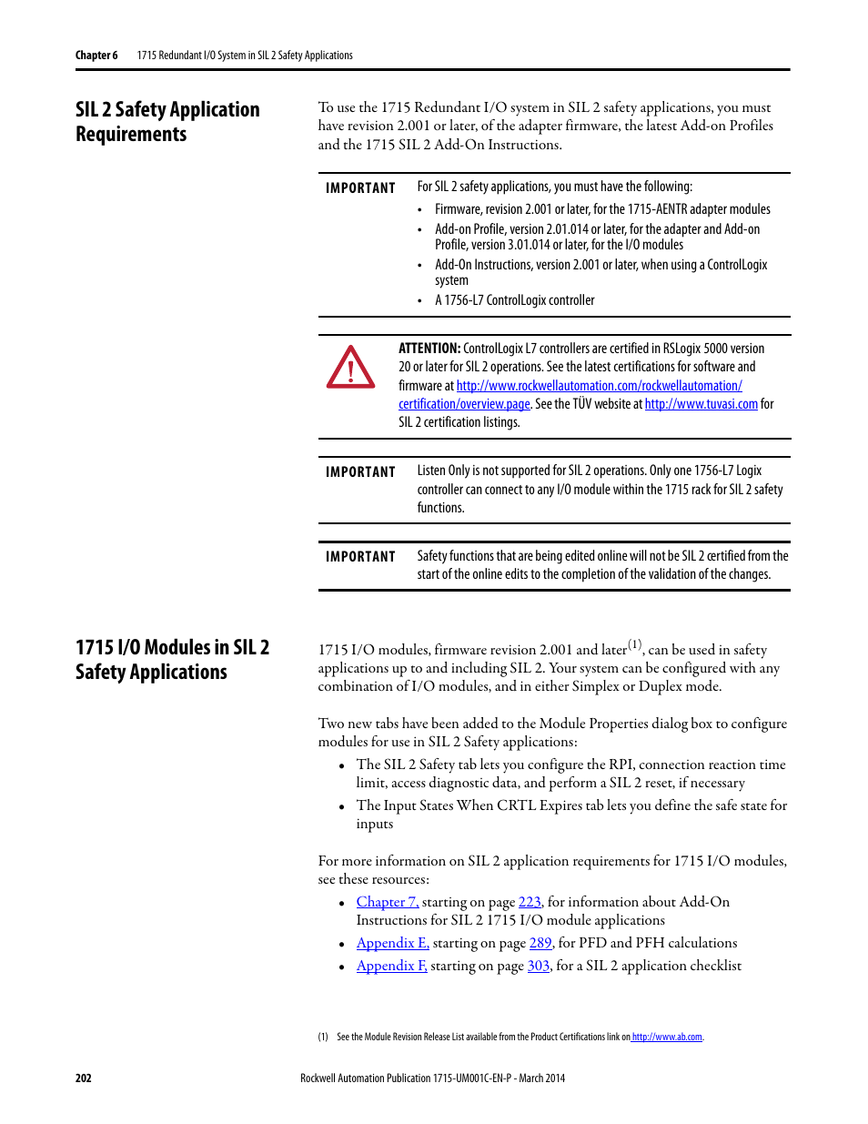 Sil 2 safety application requirements, 1715 i/o modules in ... Ab If Wiring Diagram on