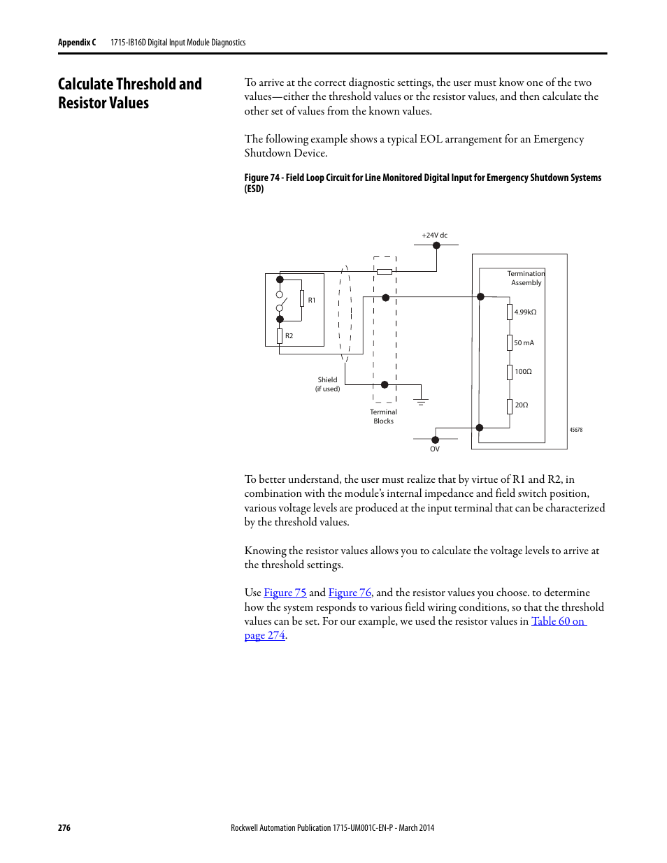 Alternator Wiring Diagram P7083 Page 2 And Schematics 2001 Eclipse Sunroof Calculate Threshold Resistor Values Rockwell Automation 1715 Of8i Redundant I O System User Manual
