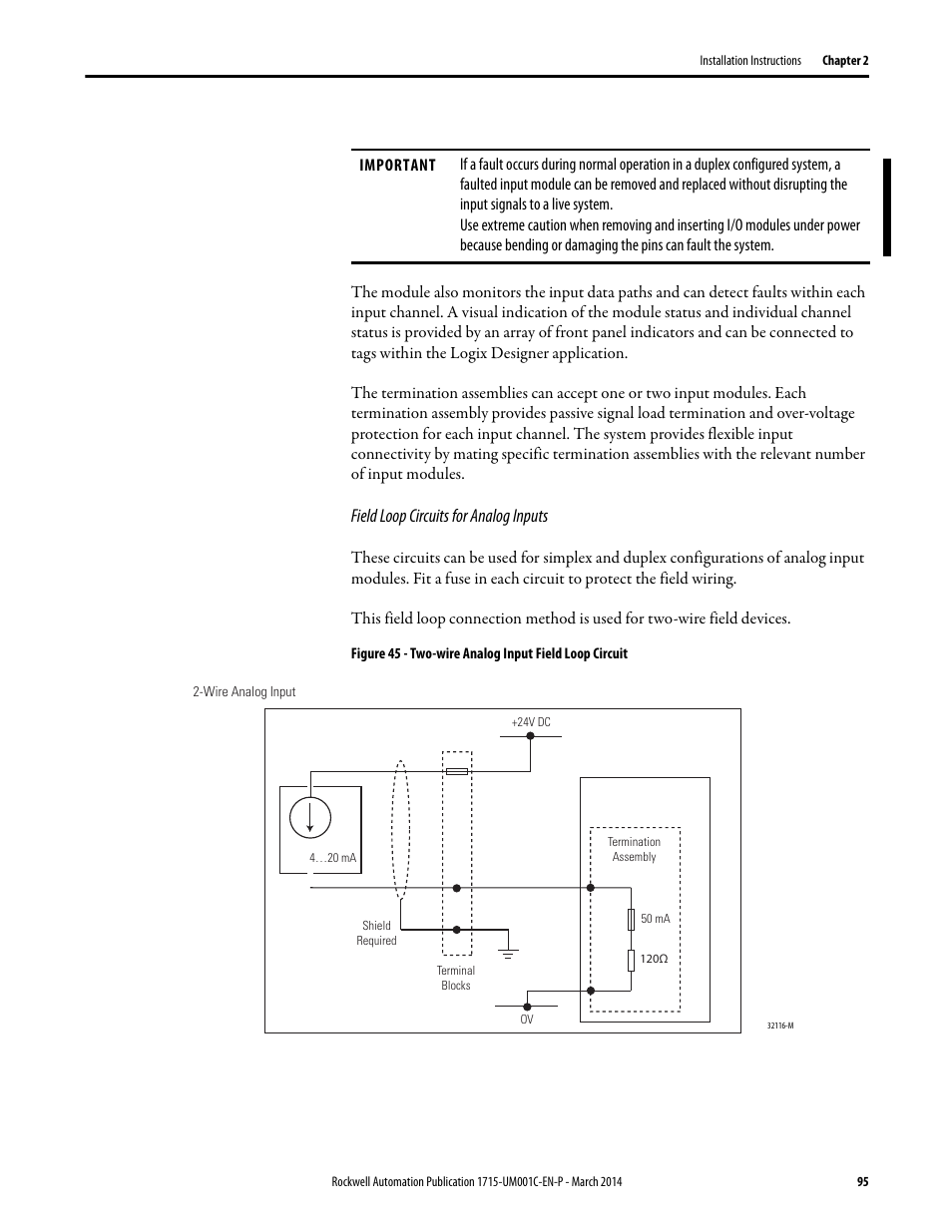 Rockwell Automation 1715-OF8I Redundant I/O System User Manual User Manual | Page 95 / 324 | Also for: 1715-IF16 Redundant I/O System User Manual, ...