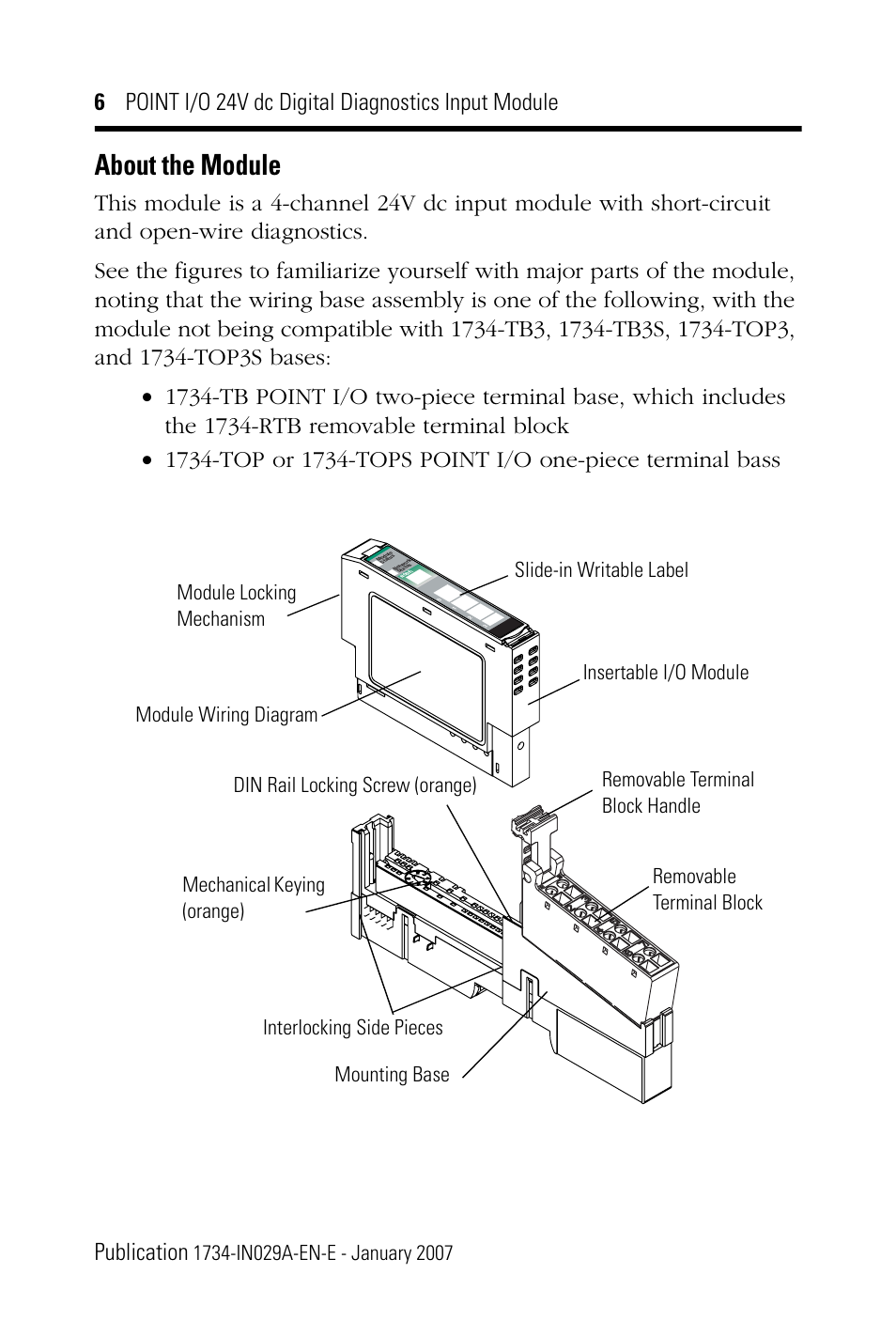 about the module rockwell automation 1734 ib4d point i o 24v dc 4 1756-ob16e wiring diagram about the module rockwell automation 1734 ib4d point i o 24v dc 4 channel discrete input module installation instructions user manual page 6 28