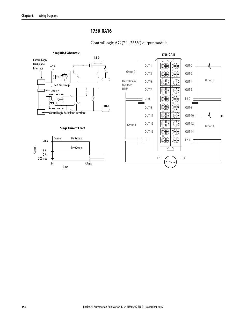 rockwell automation 1756 xxxx controllogix digital i_o modules page156 1756 oa16, controllogix ac (74 v) output module rockwell 1756 ia16 wiring diagram at mifinder.co