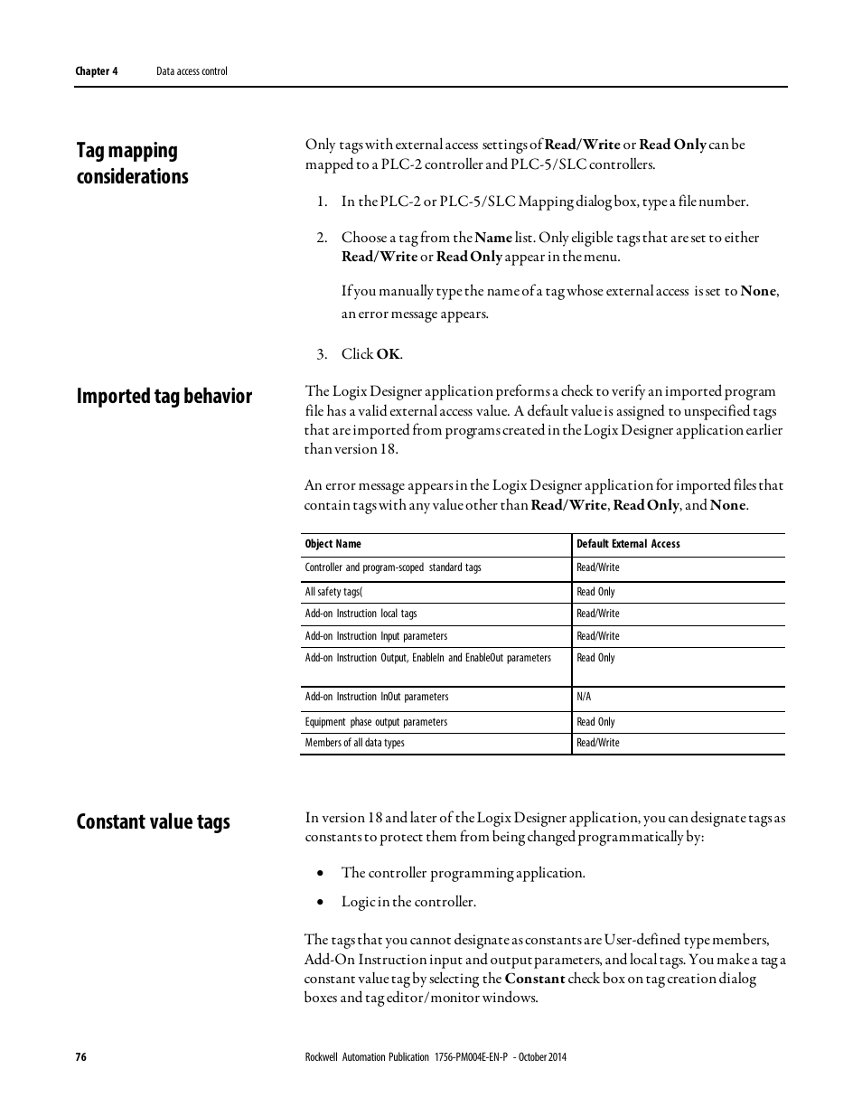 tag mapping considerations imported tag behavior constant value rh manualsdir com